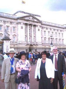 David & Sandra and Raymond & Maureen at the Royal Garden Party