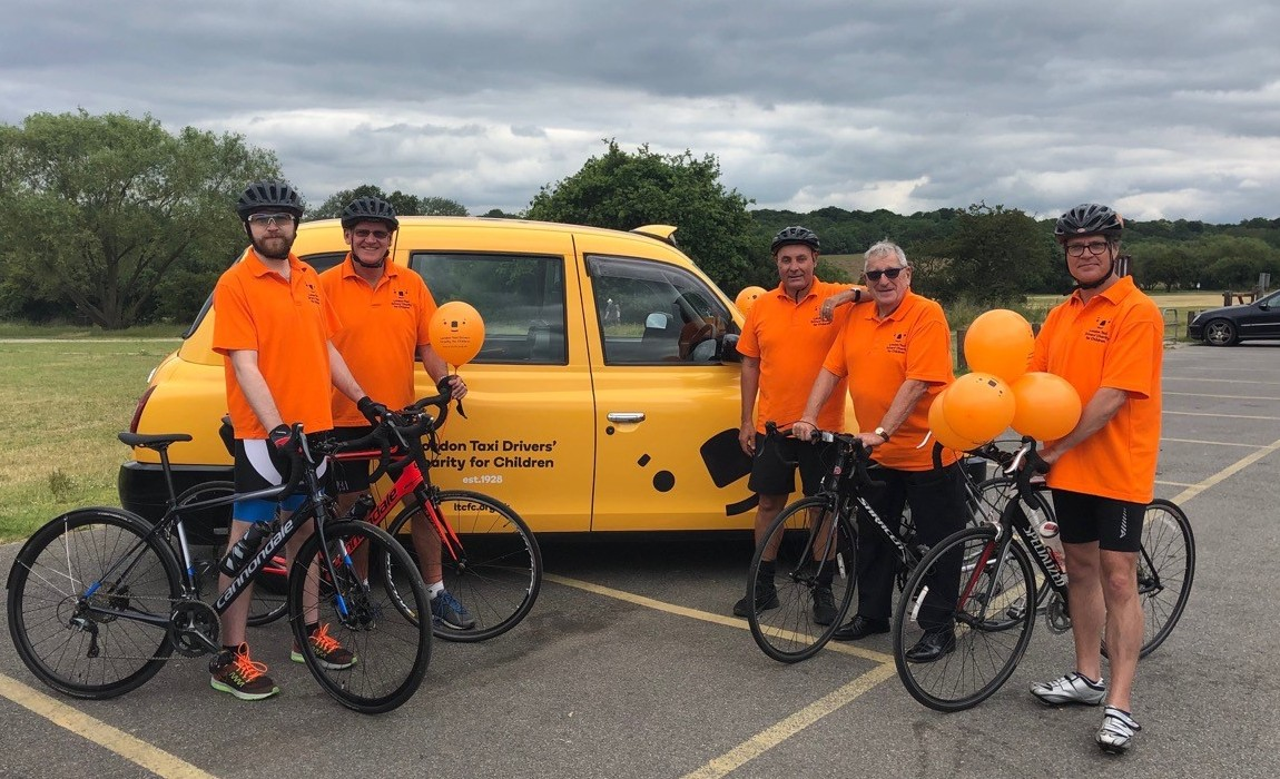 The LTCFC crew preparing for the London to Brighton cycle ride