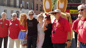 Katie Simmonds & the LTCFC committee with Gary Oldman
