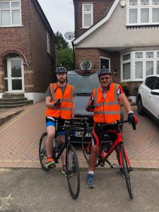 Steve & Martin Bell in training for the London to Brighton 2019