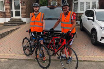 Steve & Martin in training for the London to Brighton 2019