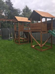 The climbing frame in Rocky's Therapy Garden
